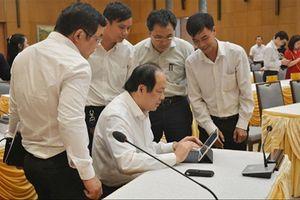 E-Cabinet giúp giảm 30% thời gian phiên họp của Chính phủ