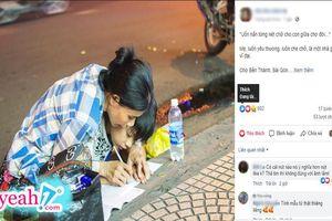 Người mẹ nghèo uốn nắn từng nét chữ cho con giữa chợ đời, vỉa hè bỗng hóa thành chiếc bàn viết tiếp ước mơ