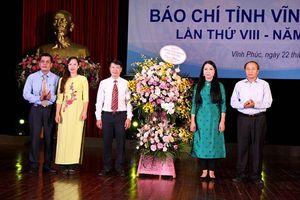 Trao Giải Báo chí tỉnh Vĩnh Phúc lần thứ VIII - năm 2019 và trao Kỷ niệm chương 'Vì sự nghiệp báo chí Việt Nam'