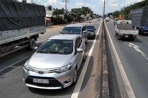 Tông xe liên hoàn ở đường dẫn cao tốc TP.HCM –Trung Lương