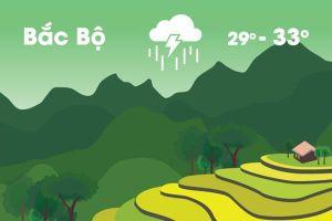 Thời tiết ngày 25/6: Bắc Bộ mưa lớn, Trung Bộ nắng nóng gay gắt