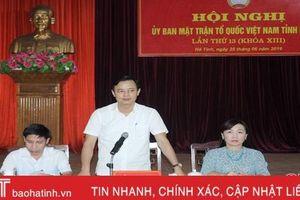 MTTQ Hà Tĩnh phát động phong trào chung tay vì người nghèo