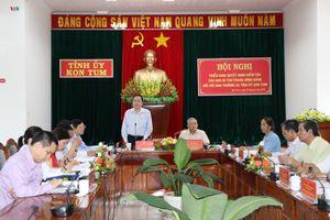 Ban Bí thư Trung ương làm việc với Ban Thường vụ Tỉnh ủy Kon Tum