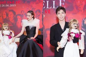Ninh Dương Lan Ngọc, Erik hào hứng tạo dáng với búp bê quỷ ám Annabelle