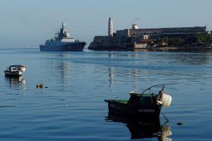 Tàu chiến Nga cập cảng Cuba, Mỹ theo dõi 'nhất cử nhất động'