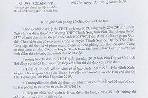 Mới nhất vụ 'lọt đề' ở Phú Thọ: Thí sinh chụp đề để nhờ bạn giải hộ