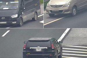 3 ôtô đi lùi trên cao tốc Hà Nội - Hải Phòng