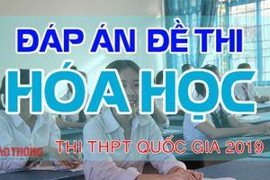 Đáp án đề thi môn Hóa học THPT Quốc gia 2019 FULL mã đề