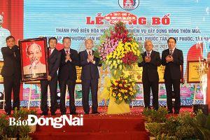 Biên Hòa công bố hoàn thành nông thôn mới, thành lập 6 phường