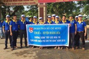 Tỉnh đoàn Thanh Hóa đồng hành cùng thí sinh tại kỳ thi 2019