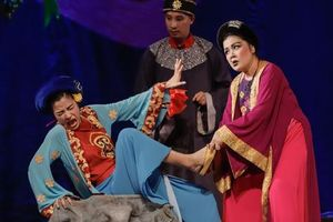 Lần đầu tiên vở kịch thiếu nhi Tấm Cám được biểu diễn tại sân khấu chứa được 4.000 chỗ