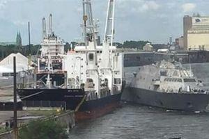 Chiến hạm LCS Mỹ bị mù đường đâm vào tàu hàng?
