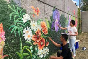 Bức tranh tường khổng lồ của họa sĩ Việt Nam xuất hiện bên bờ sông Seine