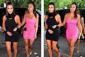 Kim Kardashian mặc đầm ôm sát, khoe dáng 'bốc lửa' khi ra phố ăn tối