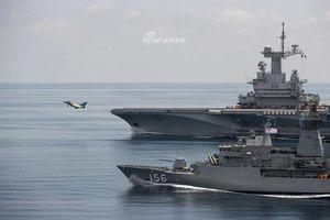 Sức mạnh cặp đôi tàu chiến Pháp - Australia tập trận ngoài khơi Indonesia
