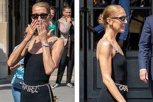 Celine Dion lộ thân hình 'gầy trơ xương' khi diện set đồ ôm sát ra phố