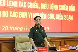 Tiếp tục chỉnh lý, bổ sung, hoàn thiện Điều lệnh tác chiến, Điều lệnh chiến đấu QĐND Việt Nam