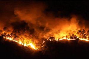 Hình ảnh đáng sợ biển lửa nuốt trọn rừng thông 30 năm tuổi ở Hà Tĩnh