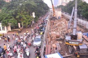 Hà Nội cấm đường Xuân Thủy, Cầu Giấy thi công đường sắt đô thị