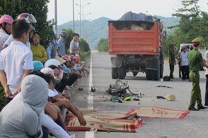 Nam công nhân bị xe tải tông trực diện