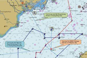 Huy động thiết bị lặn chuyên dụng tìm 9 thuyền viên tàu cá chìm tại Bạch Long Vĩ