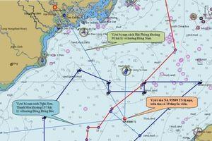 Hỗ trợ thiết bị chuyên dùng lặn tìm thuyền viên tàu cá bị nạn ở Hải Phòng