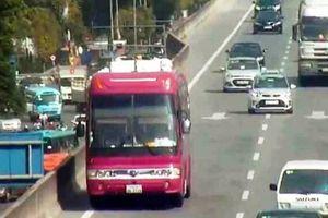 Đi lùi ở đường trên cao, tài xế có bằng lái quốc tế bị phạt từ 800.000 - 1,2 triệu đồng