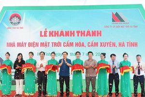 Hà Tĩnh: Khánh thành nhà máy điện mặt trời công suất 50 MWp