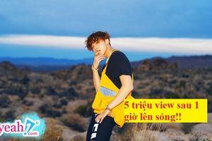 Cập nhật những con số ấn tượng MV 'Hãy trao cho anh' của Sơn Tùng M-TP: 5 triệu view sau chưa đầy 1h lên sóng