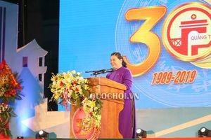 Phát biểu của Phó Chủ tịch Thường trực Quốc hội Tòng Thị phóng tại Lễ kỷ niệm 30 năm Tái lập tỉnh Quảng Trị