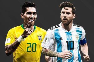 Brazil áp đảo Argentina ở đội hình siêu kinh điển Nam Mỹ