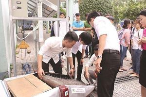 Mô hình thu gom rác thải tự động đoạt giải nhất