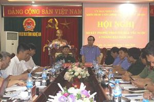 Khối Nội chính - Lực lượng vũ trang Nghệ An sơ kết phong trào thi đua