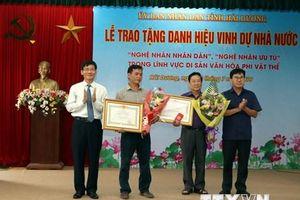 Truy tặng, trao tặng danh hiệu nghệ nhân nhân dân, nghệ nhân ưu tú