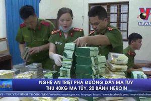Triệt phá đường dây ma túy thu 40kg ma túy, 20 bánh heroin