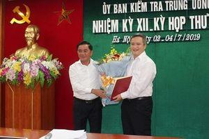 Ủy viên UBKT Trung ương được chỉ định làm Phó Bí thư Hà Tĩnh