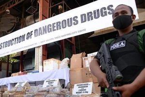Philippines thiêu hủy 1,4 tấn ma túy