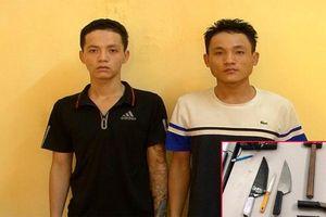 Đi trộm xe máy bị phát hiện, 2 nam thanh niên cầm dao bầu chống trả công an