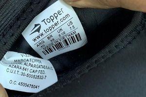 Hải Phòng: Container giày thể thao nhập từ Trung Quốc mang Made in Việt Nam