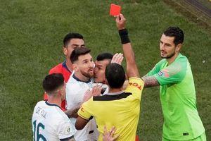 Messi lần thứ 2 nhận thẻ đỏ; Lịch sử ủng hộ Brazil vô địch Copa America 2019