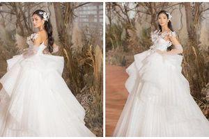 Hoàng Thùy mặc váy cưới làm cô dâu gợi cảm