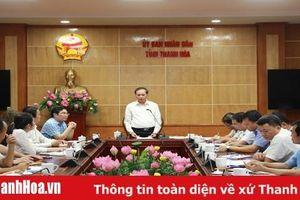 Phó Chủ tịch Thường trực UBND tỉnh Nguyễn Đức Quyền làm việc về đầu tư dự án nước thải tại TP Sầm Sơn