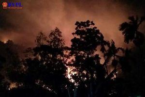 Rừng Hà Tĩnh lại bị 'bà hỏa' uy hiếp, người dân sơ tán trong đêm