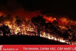 Rừng thông trên 40 năm tuổi ở Hương Sơn bùng cháy lần 2 trong 1 ngày