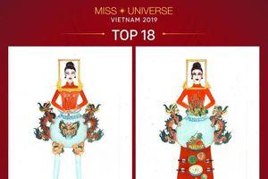 Thiết kế 'Bàn thờ' vào top trang phục dân tộc cho Hoàng Thùy tại Miss Universe 2019