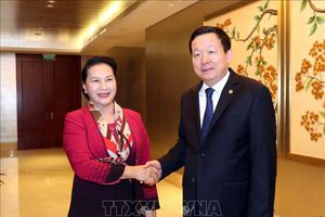 Chủ tịch Quốc hội Nguyễn Thị Kim Ngân tiếp Bí thư Thành ủy Tô Châu, Trung Quốc
