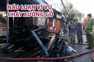 Náo loạn vì vụ cháy xưởng gỗ gần chợ Cây Sộp lúc rạng sáng