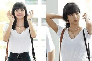 Góc lạ lẫm: Lisa (Black Pink) nhuộm tóc màu đen, lên đường quay về quê nhà Thái Lan