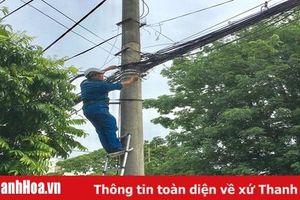 TP Thanh Hóa: Sau phản ánh của Báo Thanh Hóa, nhiều đoạn cáp viễn thông đã được bó gọn