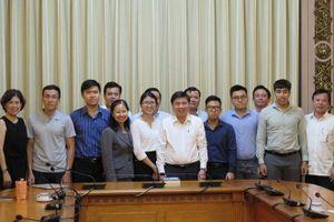 Lãnh đạo TP.HCM làm việc với 6 thạc sĩ đề án đô thị thông minh